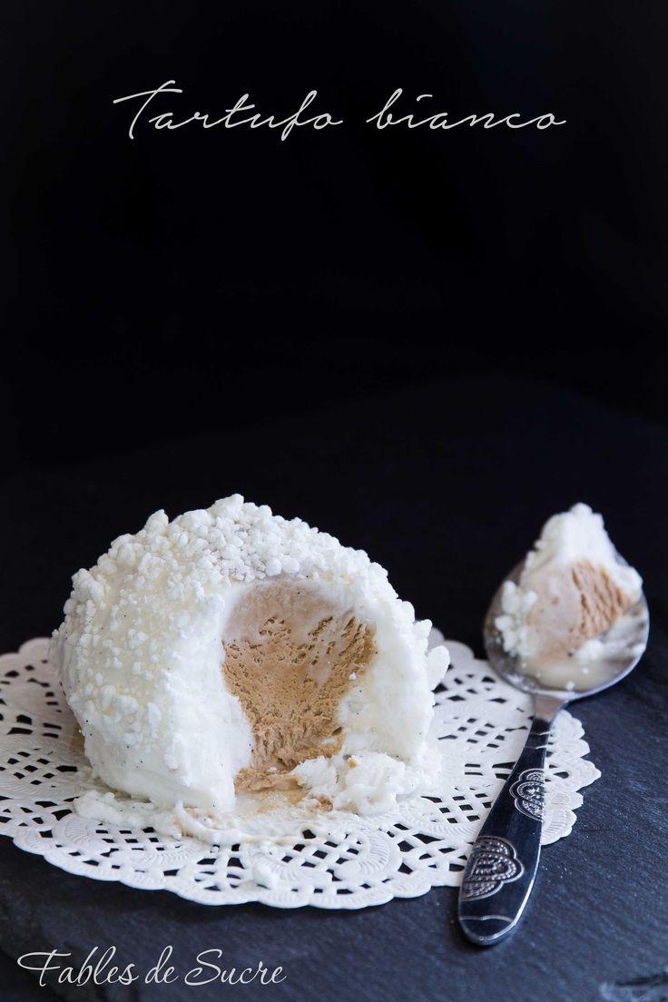 Il tartufo bianco alla vaniglia con cuore di caffè e granella di meringa croccante è molto facile da preparare. in versione semifreddo, leggi come si fa ;)