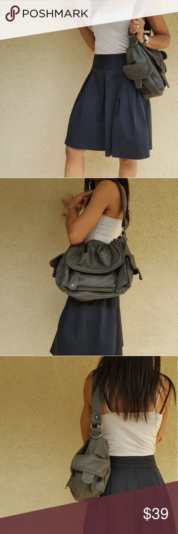 Ecote' Flap Faux Croc Hobo Bag Ecote' by Urban Outfitters  Army Green Faux Croc Hobo Purse Oversized Flap Covers Top Zip Features Flap Covered Side Pockets Front & Back Zipper Pockets Includes Extra Belt for CrossBody Style Beautiful Colorful Interior  **NWOT** Urban Outfitters Bags Hobos