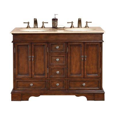 Silkroad Exclusive HYP-0715 Ashley Double Sink Cabinet Bathroom Vanity