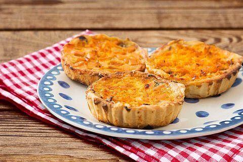 Recept voor Kleine  oranje paprika taartjes
