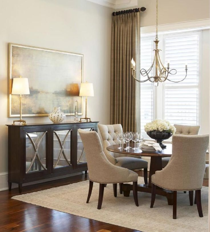 At Home Spring 2015 Tall WindowsElegant Dining RoomThe RoundRound TablesBuffetLarge