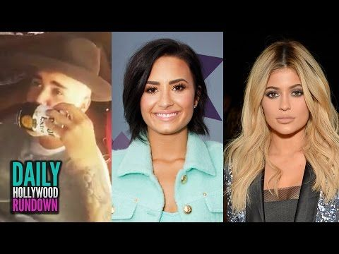 Justin Bieber CHUGS Beer - Demi Lovato Bisexual? Kylie Jenner Makeout Session! (DHR) - YouTube