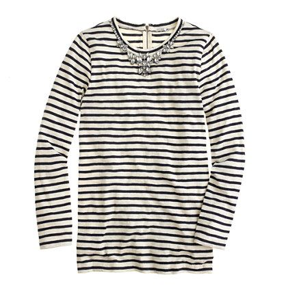 Stripe necklace tee - long-sleeve tees - Women's knits & tees - J.Crew