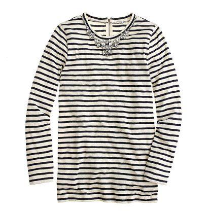 Stripe necklace tee - long-sleeve tees - Women's knits & tees - J.Crew
