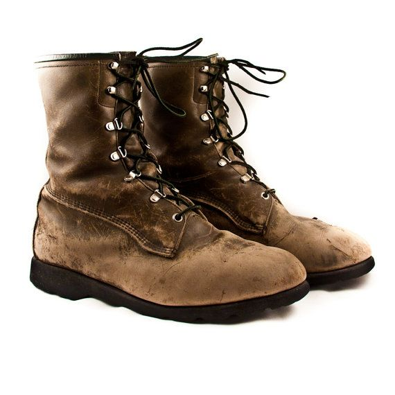 Vintage Leather Boots Men's Rustic Distressed Old Worn - $100 - www.goodmerchants...