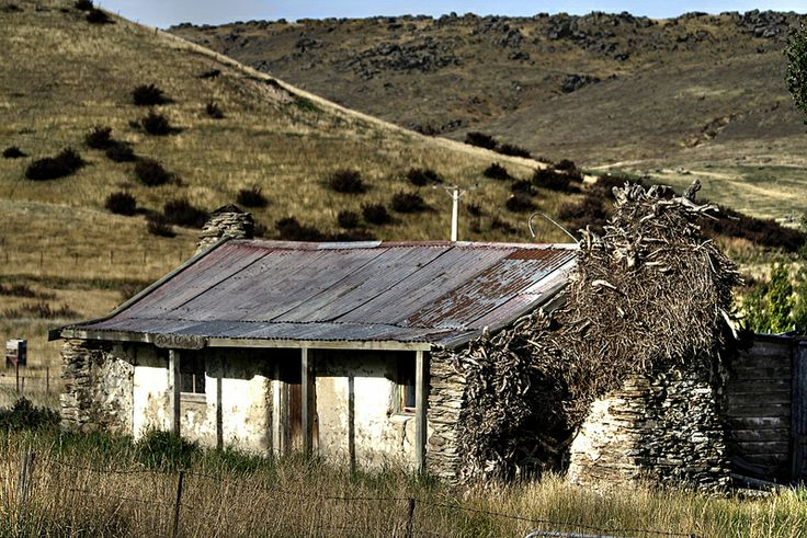 A 19th century Otago home, long abandoned. Constructed of local stone, and cob, Fruitlands, New Zealand