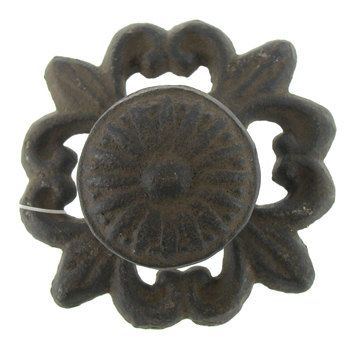Brown Cast Iron Drawer Pull
