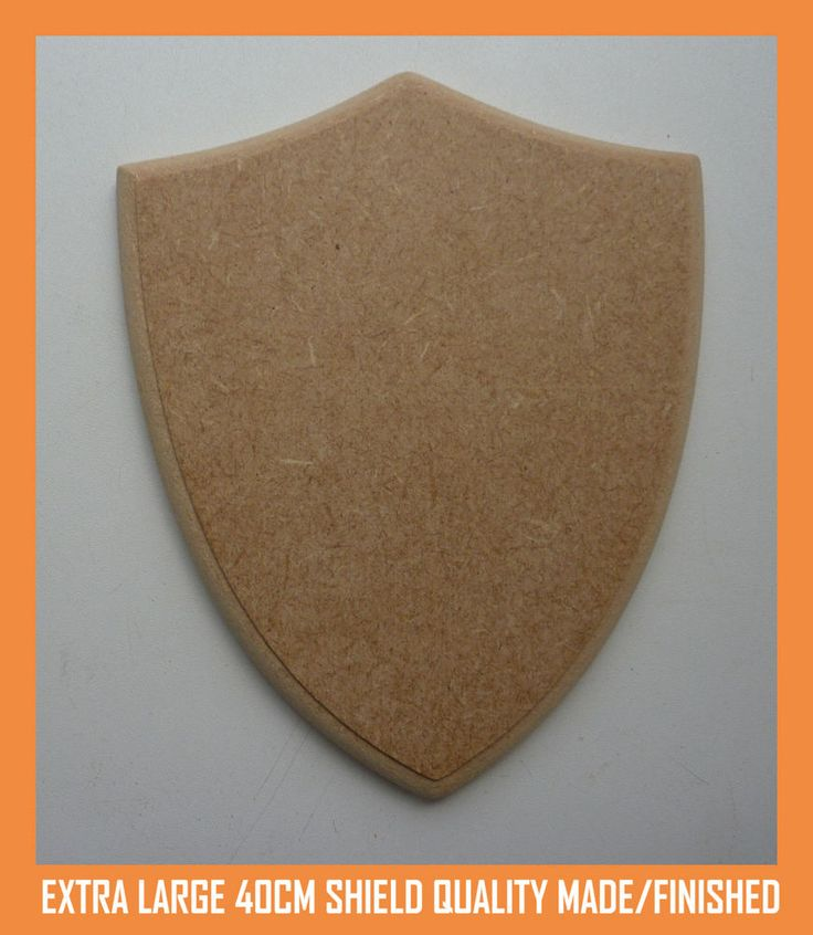 Extra Large 40cm MDF Wooden Shield Craft Shape Trophy Plaque Quality Made