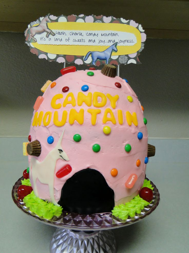 charlie the unicorn candy mountain cake