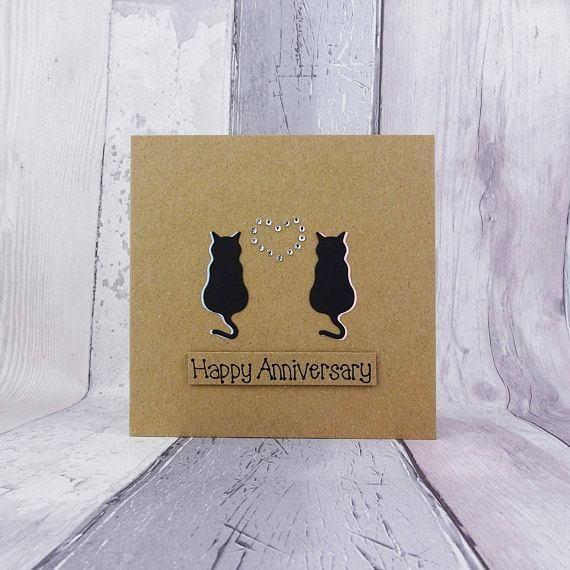 Cat Anniversary Card For Couple Handmade Anniversary Card Etsy Anniversary Cards Handmade Anniversary Cards For Couple Cards Handmade