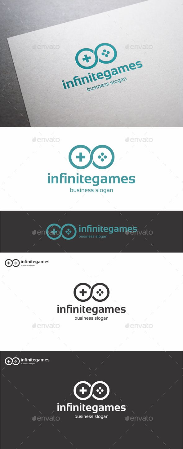 Infinite Games – Simple and clean logo. Infinity Unlimited Games Logo Template.