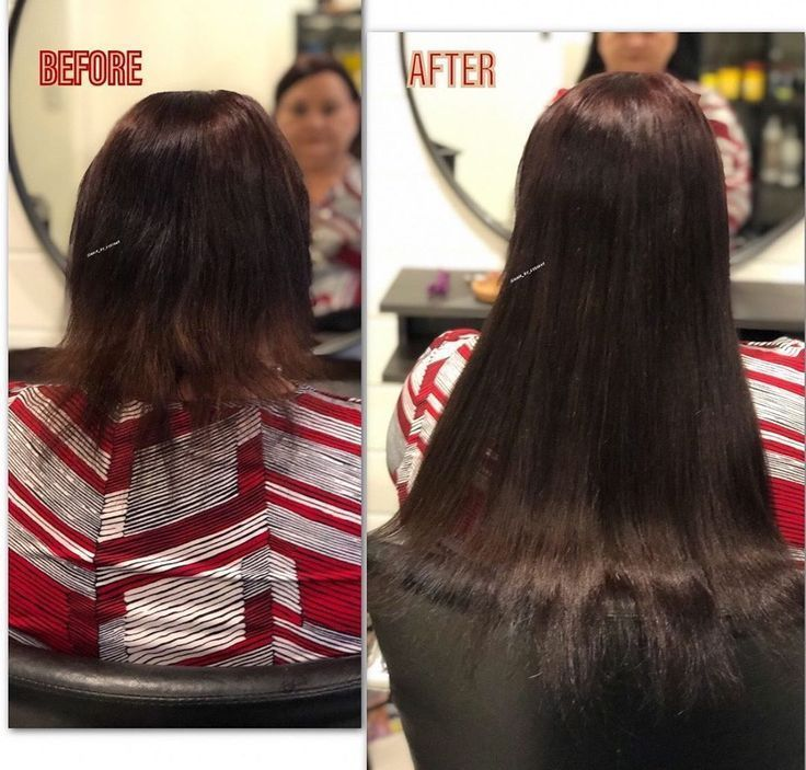 Before and after transformation with 3 rows of sew… –
