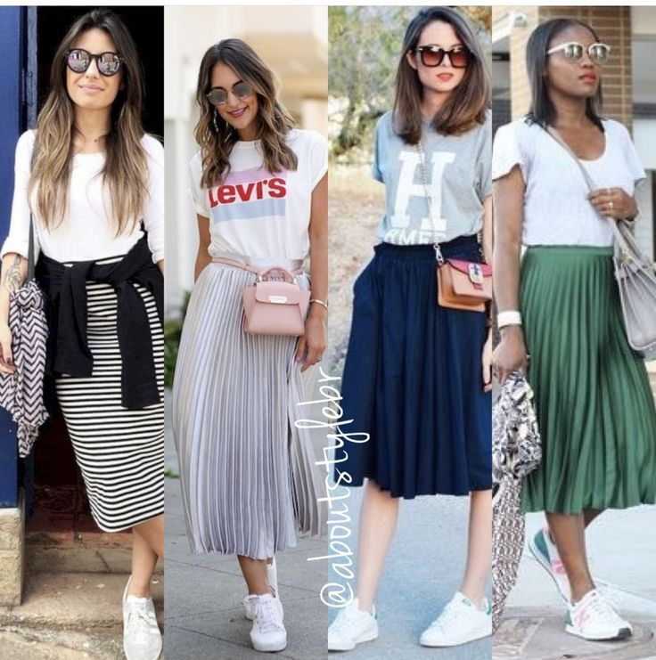 Midi skirts & tees pleese