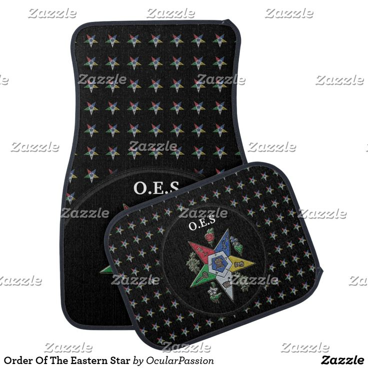 Order Of The Eastern Star Car Mat