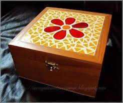 Resultado de imagen para caja madera mosaico