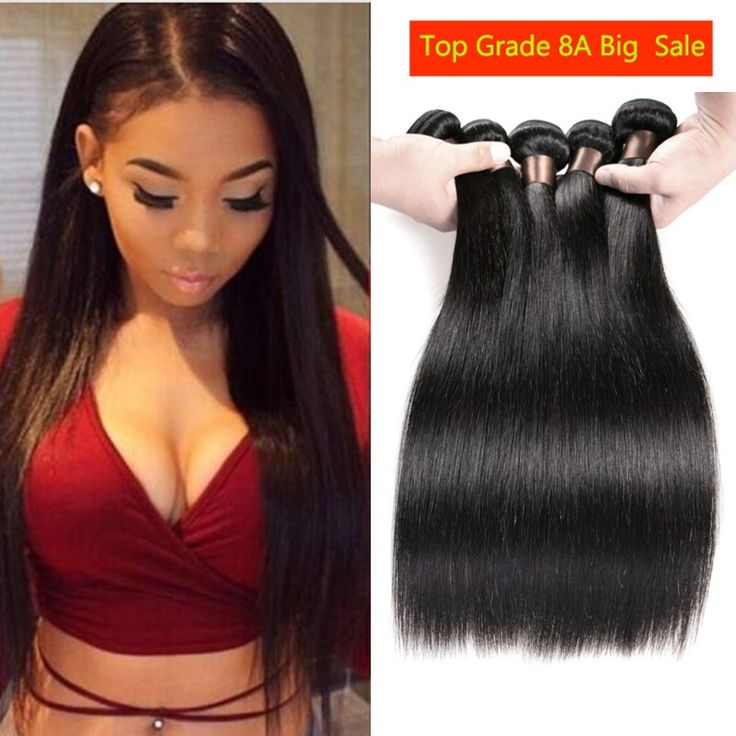 Brazilian Virgin Hair Straight 3 Bundles Straight Brazilian Hair Weave Bundles 8A Grade Virgin Unprocessed Human Hair Bundles -  http://mixre.com/brazilian-virgin-hair-straight-3-bundles-straight-brazilian-hair-weave-bundles-8a-grade-virgin-unprocessed-human-hair-bundles/  #HairWeaving