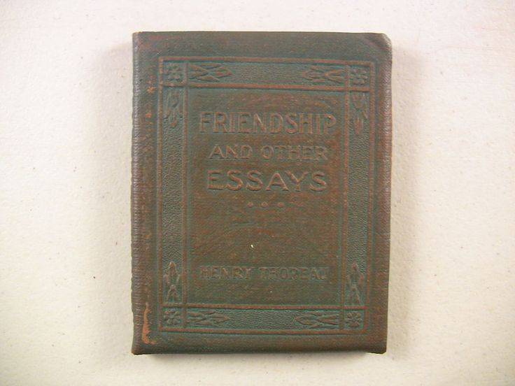 the best friendship essay ideas tree essay  vintage miniature book little leather library friendship essays thoreau 1920s