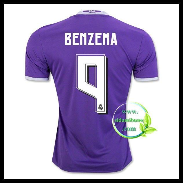 Fotballdrakter FC Real Madrid BENZEMA #9 Bortedraktsett 2016-2017