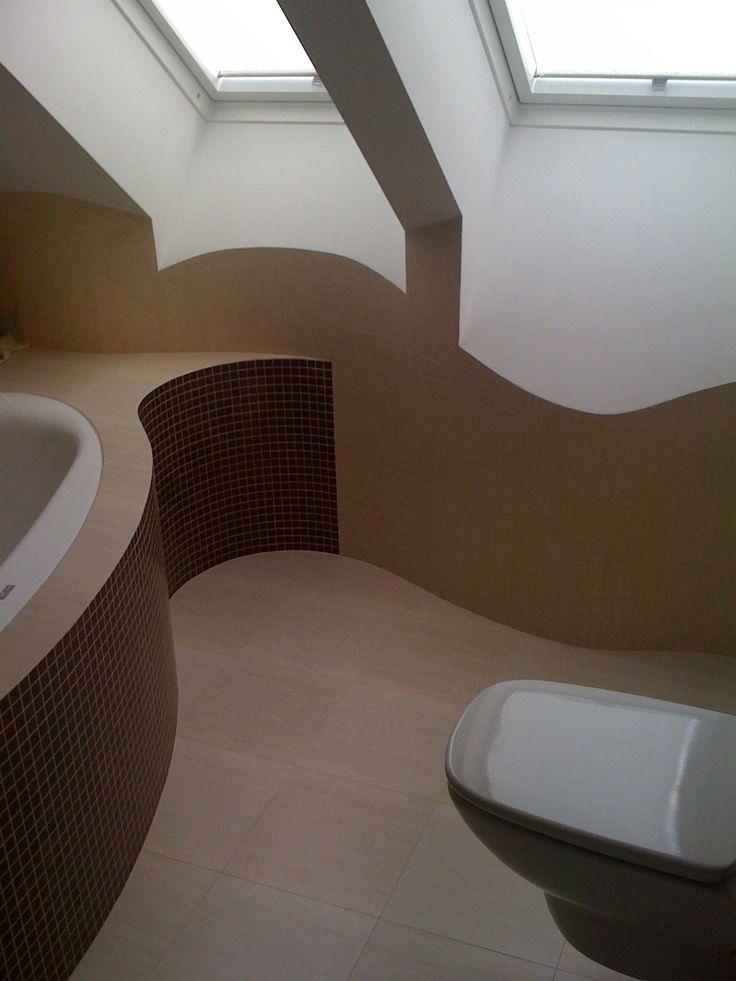 Łazienka na poddaszu.