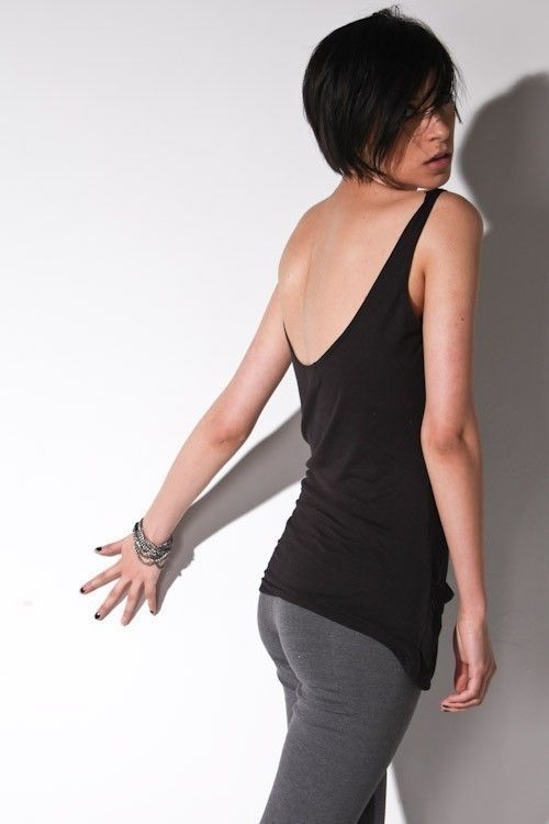 Low Back Tank Top - Womens Black Resort Tops Le Deux  http://www.etsy.com/listing/97324706/low-back-tank-top-womens-black-resort?ref=mh_link_hub=fashion_eid=1193854457_section=featured_listings