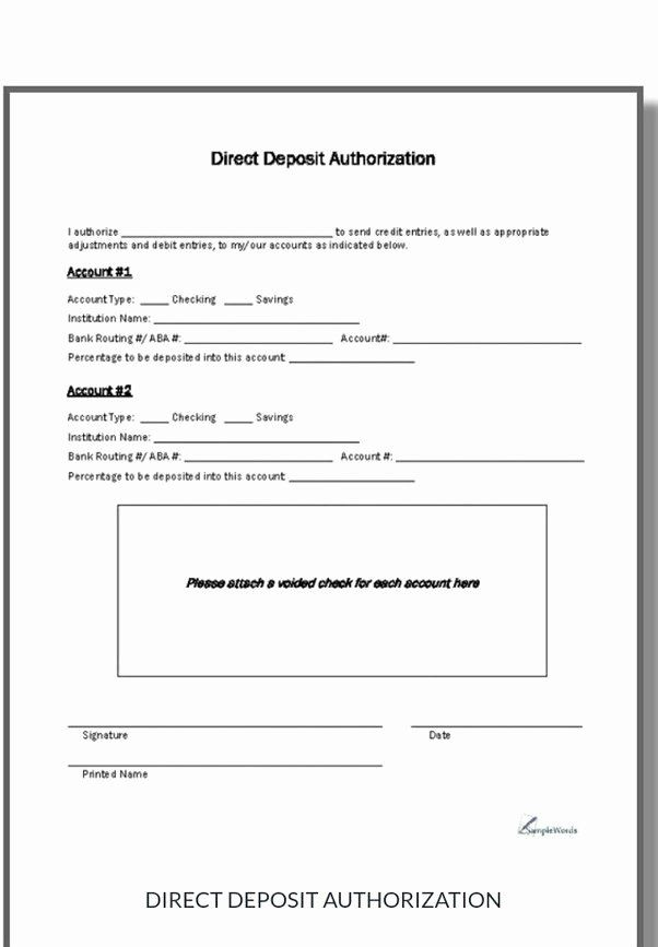 Generic Direct Deposit Form New What Are The Different Types Of Direct Deposit Quora Directions Christmas Party Invitation Template Job Application Template