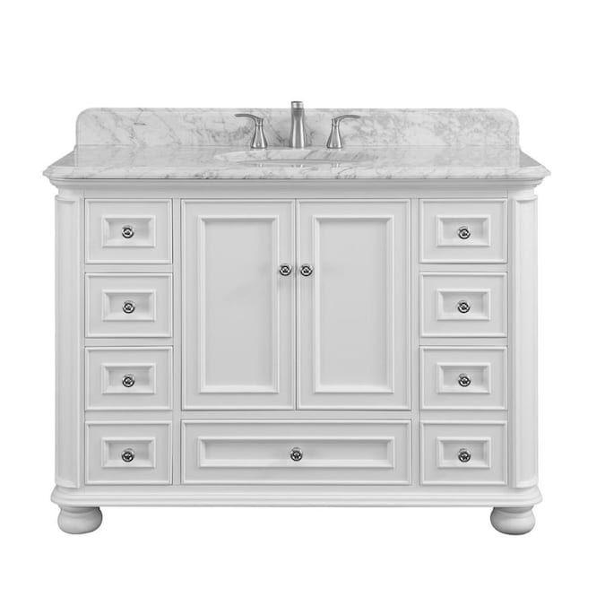 scott living wrightsville 48 in white single sink bathroom on lowes vanity id=77513