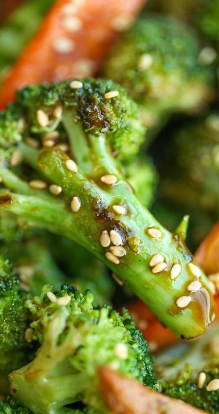 Asian Roasted Carrots and Broccoli ~ Super simple, quick, and easy, packed with so much flavor with such a short ingredient list and just 5 min prep!