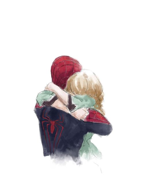 gwen stacy and peter parker. i'll probably never be over these two, honestly.