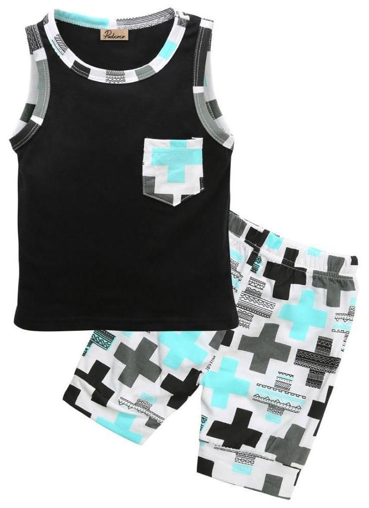 Cross Baby Boy Summer Outfit Set