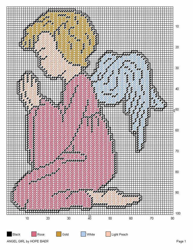 Angel girl praying PC Pattern