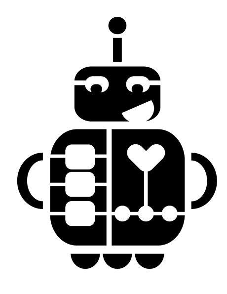 robot stencil from print-cut-paste-craft.com