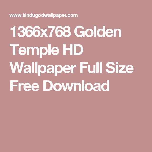 1366x768 Golden Temple HD Wallpaper Full Size Free Download