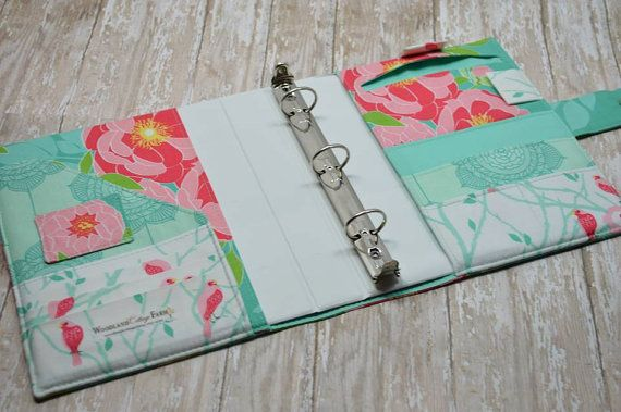 3 Ring Binder Cover - In Riley Blake Fabric - f3