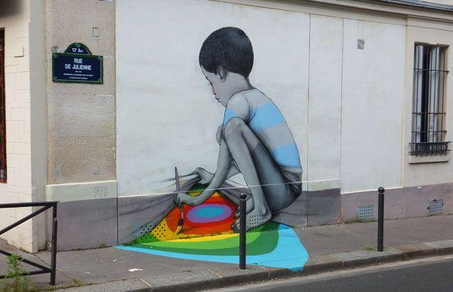 Rue de Juliene, Graffiti