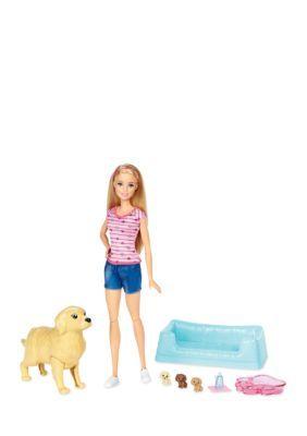 Mattel Barbie Newborn Pups Doll & Pets - Assorted - No Size