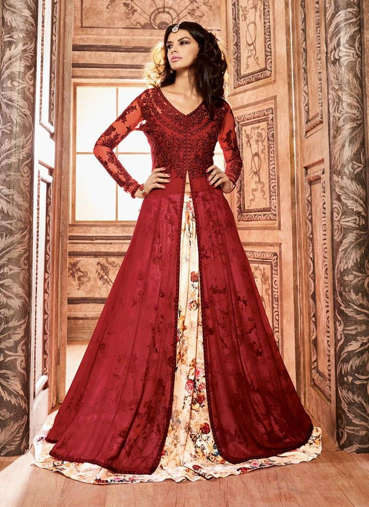 Shop online anarkali salwar kameez from our updated catalog collection of anarkali suits. Grab this silk anarkali salwar kameez for festival and party.