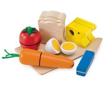 Selecta Spielzeug 1548 - Picknick, Set aus Holz zum schneiden üben und Sandwich bauen: Amazon.de: Spielzeug