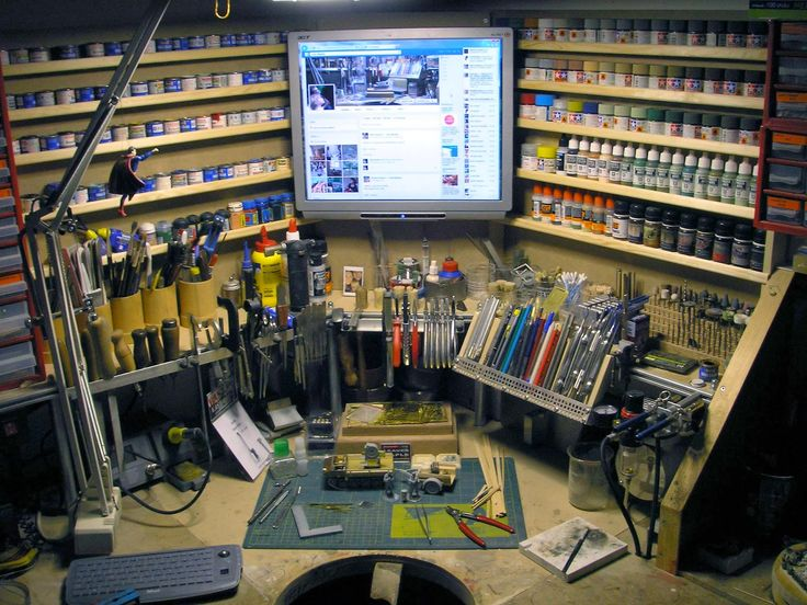 Workbenches, Monitor and Computers on Pinterest