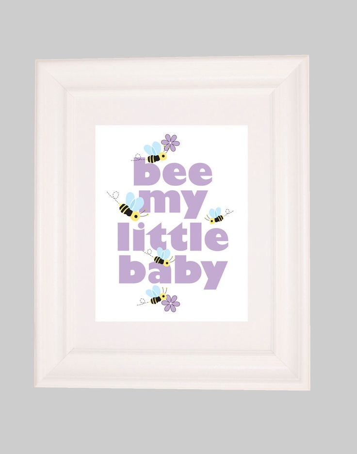 Nursery Art Prints Childrens Decor For Kids Bumble Bee
