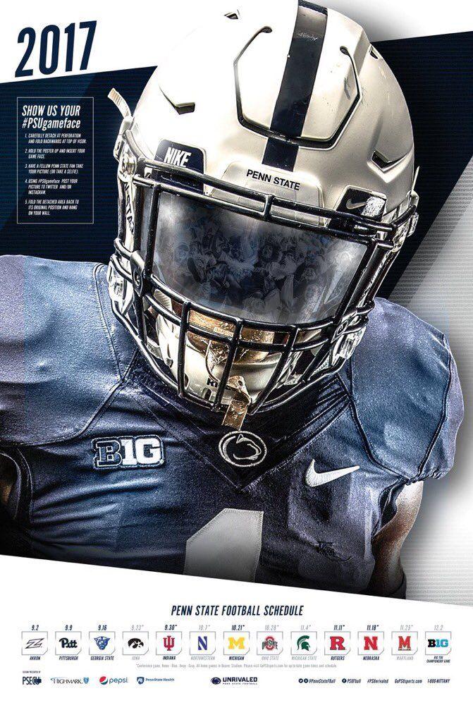 2017 Penn State Football Poster