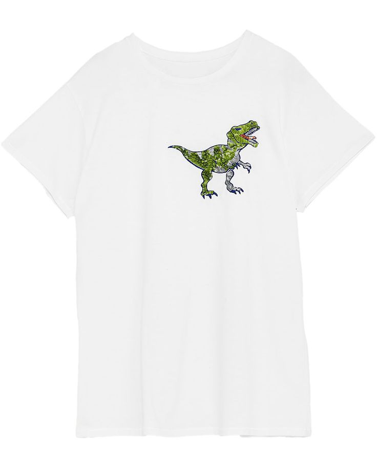 DINOSAUR APPLIQUÉ SHORT SLEEVE T-SHIRT-NEW IN-WOMAN | ZARA United States