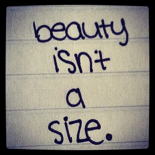 "Lately I've noticed a lot of posts about society ruining the image of women and making all women feel/think they need to be thin. . . as of lately I've been judged on my size (I'm skinny) So as a reminder to all . . . this quote is for you!!!! Angelina said it best ""Honestly, I like everything, boyish girls, girlish boys, the heavy and the skinny"". Thin, curvy, average, fit, fluffy . . . it doesn't matter cause we all come in many shapes and sizes ;) Love those that are beautiful in and out."