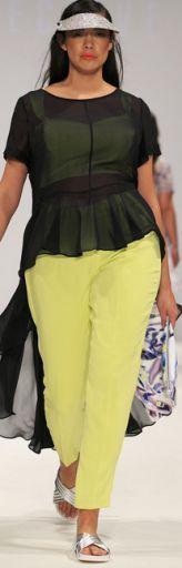 Летние брюки 2015 для полных. Модные летние женские брюки, джинсы, комбинезоны 2015 для полных - фото