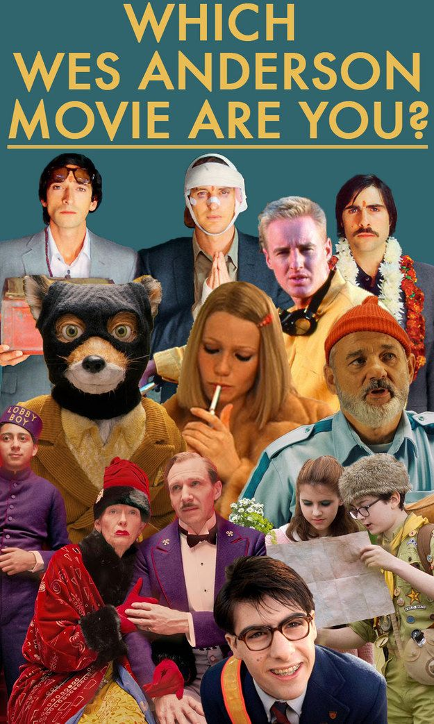 Which Wes Anderson Movie Are You? #WesAnderson