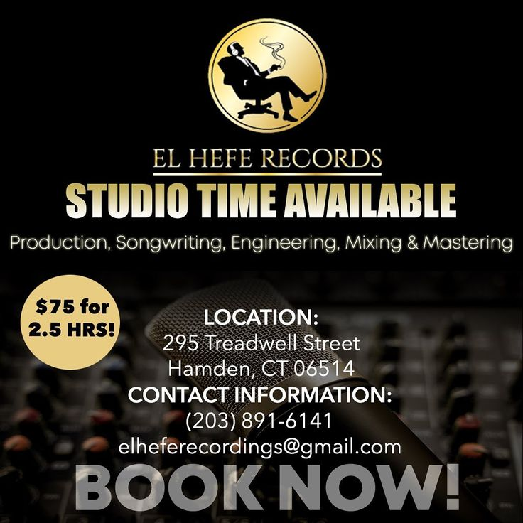 Book a session for production, recording, mixing
