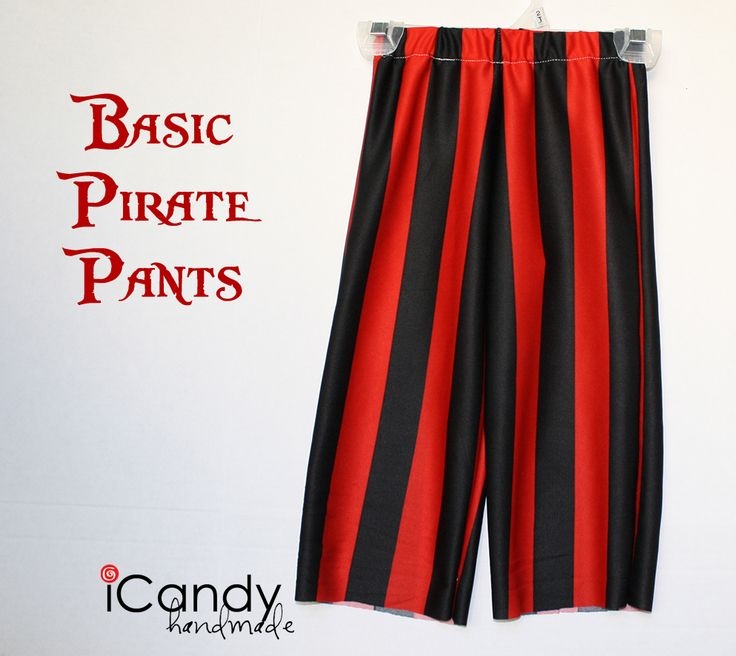 diy pirate costume | ...pantalon rayé tout simple, découper des franges en bas