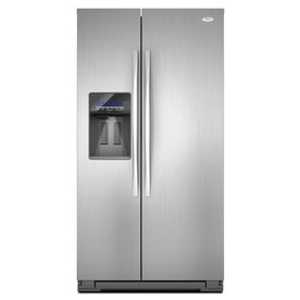 Whirlpool�26.4 cu ft Side-by-Side Refrigerator (Monochromatic Satina Steel) ENERGY STAR
