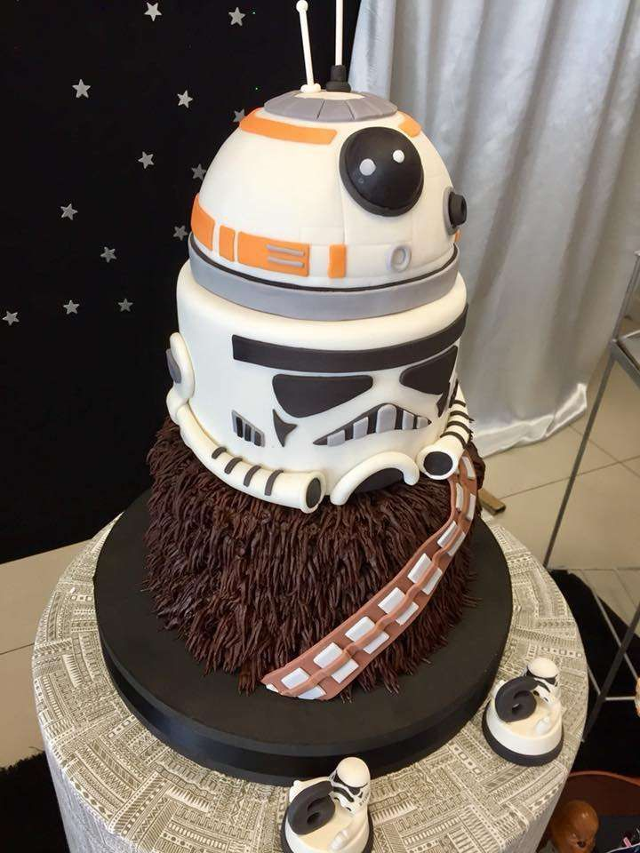 Superb Check Out The Cool Birthday Cake At This Star Wars Birthday Party Personalised Birthday Cards Paralily Jamesorg