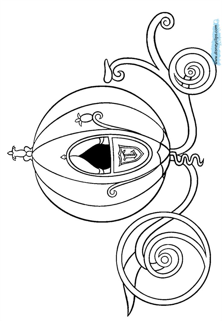 3007 best images about coloring on pinterest coloring for Cinderella carriage coloring page