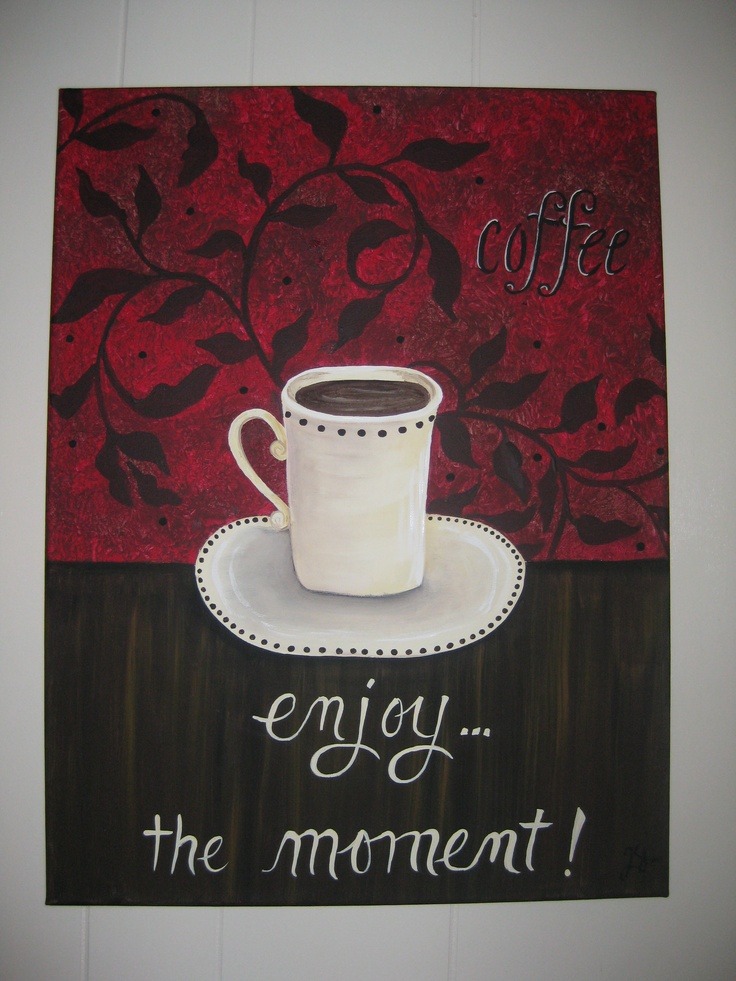 Coffee Canvas Painting My Fun Projects Easy Canvas